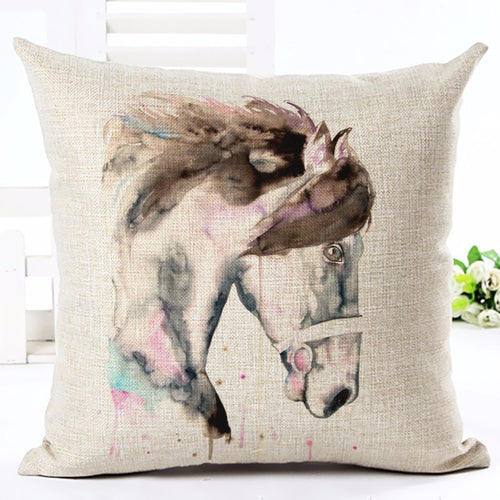 Housse coussin cheval