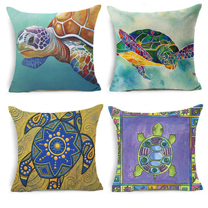 Housse coussin tortue 45*45