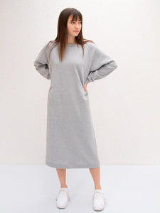 Chalk Steph Sweatshirt Dress | Marl