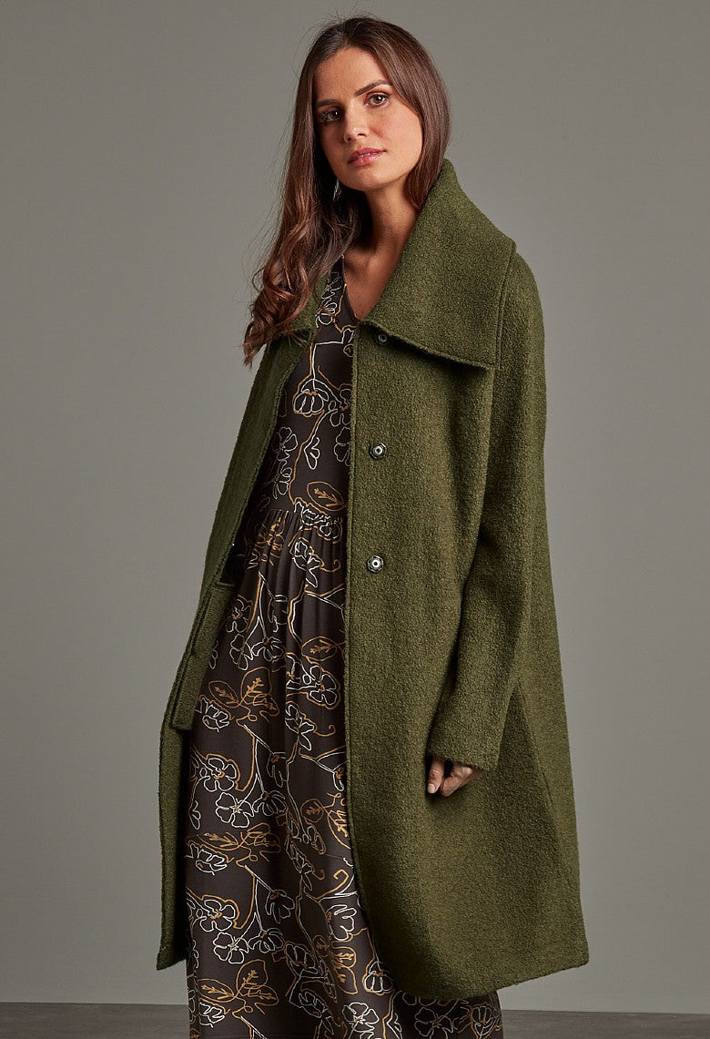 Falmouth Knit coat - Olive