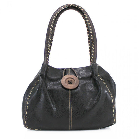 Button Bag in Black