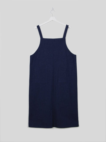 Chalk Alice Dress Dark Denim