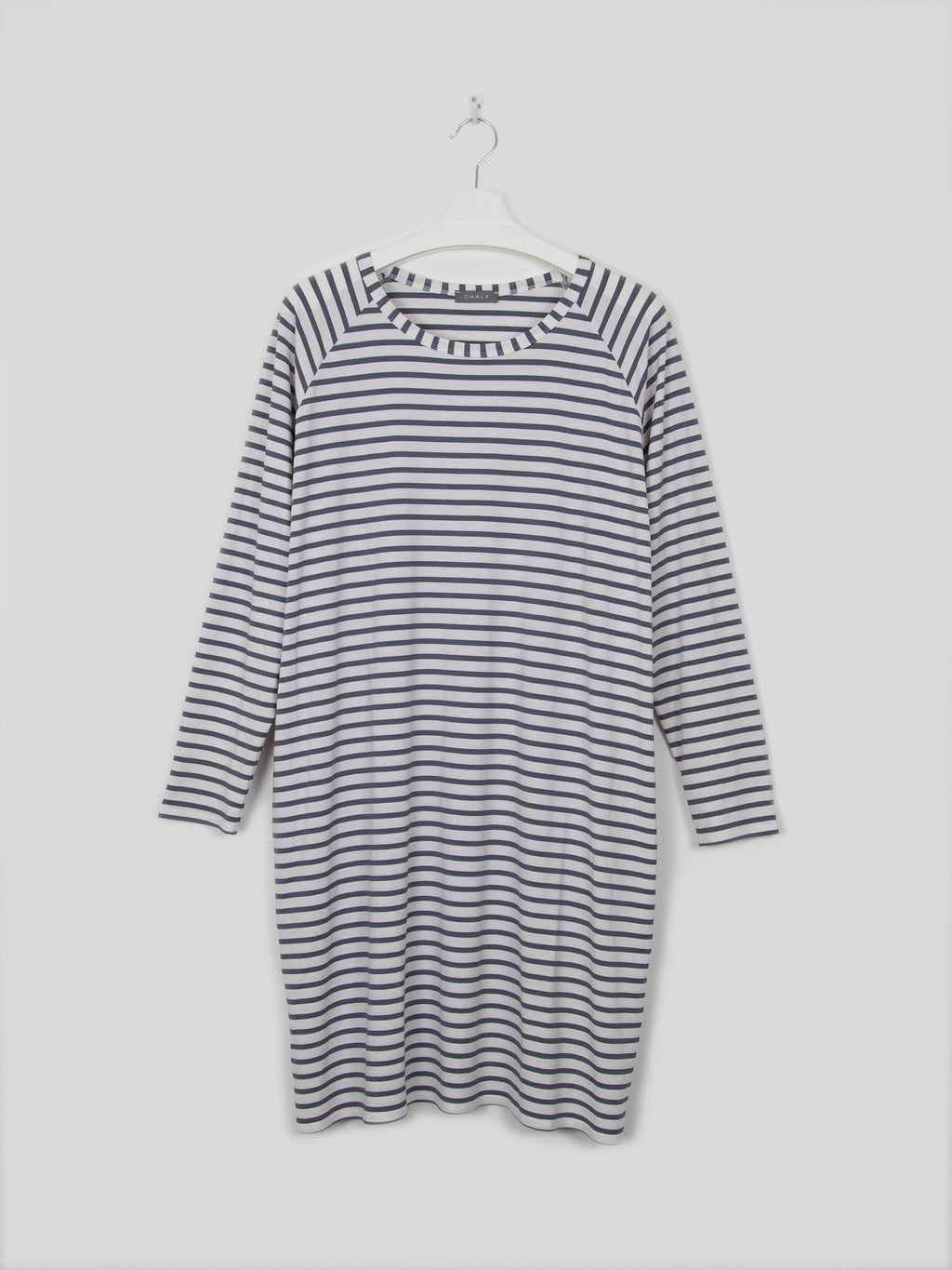 Chalk Brody Dress Stripe White/Charcoal