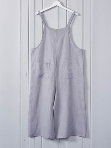 Chalk Clothing Grace Jumpsuit Linen Silver