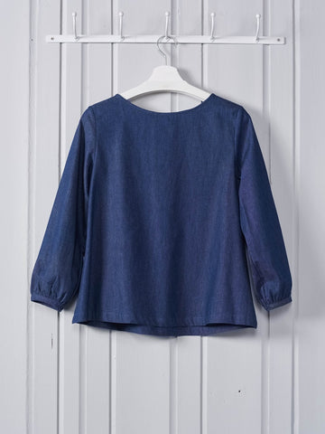 Chalk Clothing Milly Top in Denim