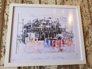Whitstable Fisherman's Huts Print