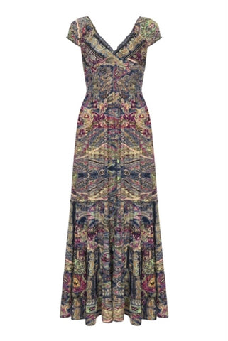 Gabrielle Parker Silk Gypsy Dress -  Mosaic with gold
