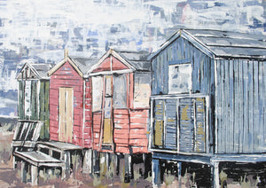 Whitstable Beach Huts - Fine Art Print
