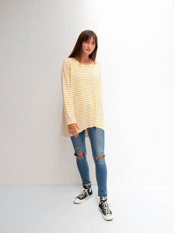 Chalk Robyn Top | Stripe | Mustard