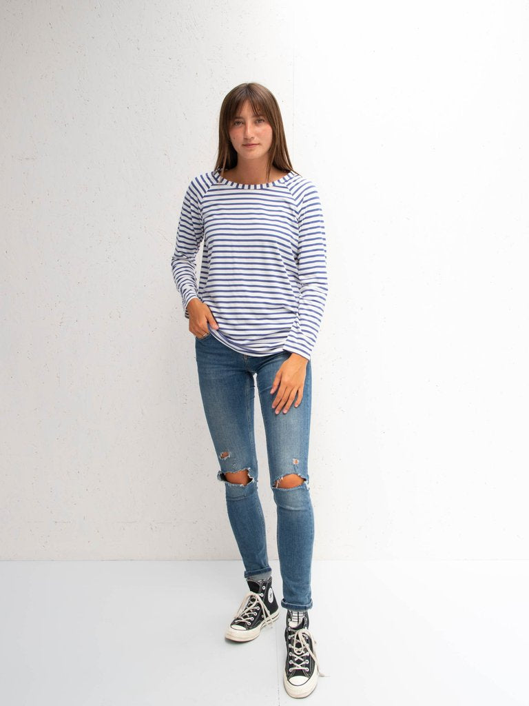 Chalk Tasha T-Shirt | Stripe | Black