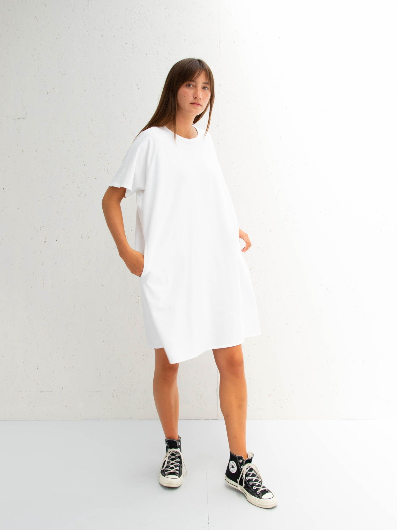 Chalk Linda Dress | White