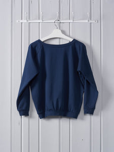 Chalk Holly Top | Navy
