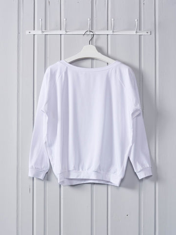 Chalk Holly Top | White