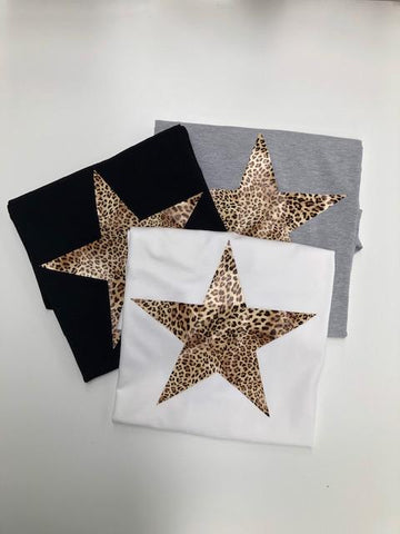 Chalk Darcey Star T-shirt Black