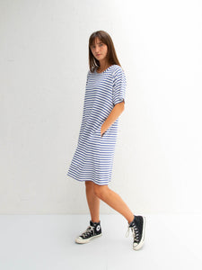 Chalk Linda Dress | Stripe | Blue