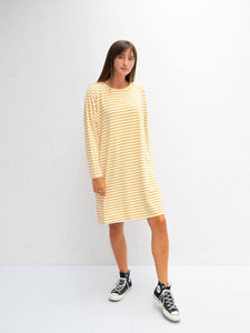 Chalk Linda Dress | Stripe | Mustard