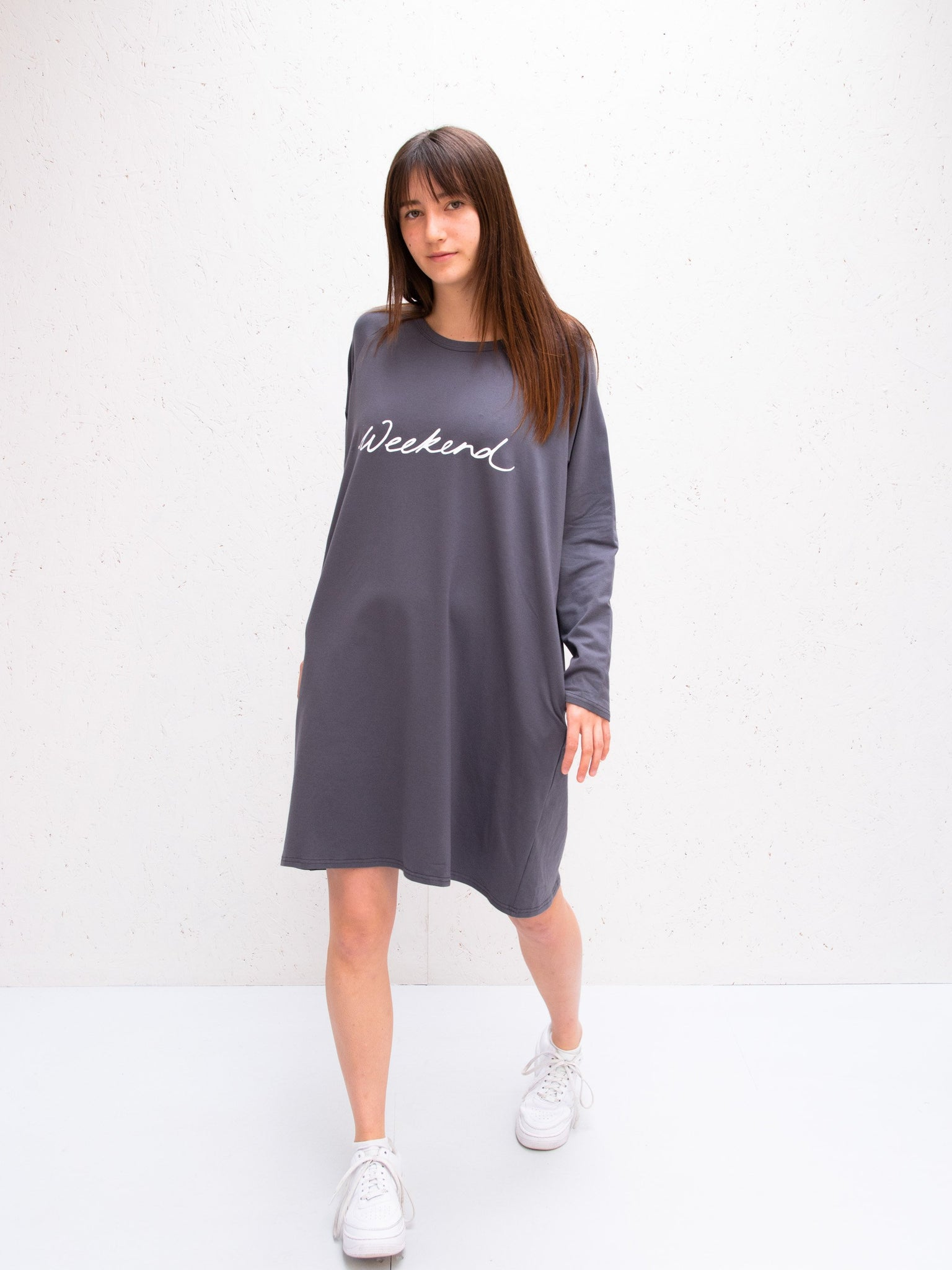 Chalk Brody Dress | Charcoal