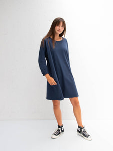 Chalk Brody Dress | Navy
