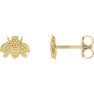 14K Bumblebee Earrings