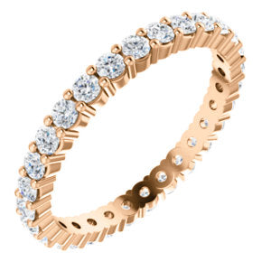 14K 7/8 CTW Diamond Round Eternity Band