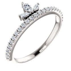 Diamond Crown Stackable band