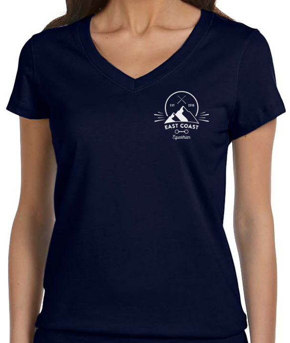 Mountaineer Short Sleeve V-Neck Tee - Navy (ONE LARGE LEFT!)