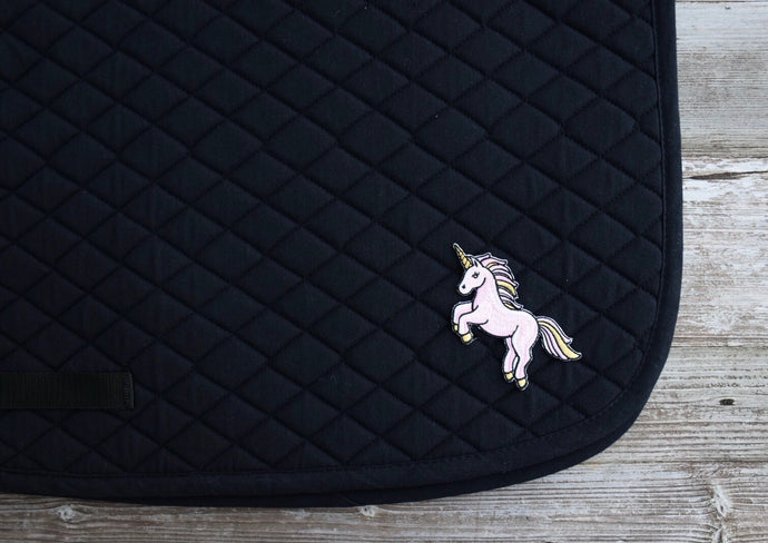 Unicorn Saddle Pad - Black AP (ONE LEFT!)