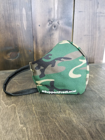 Green Camo PPE Civilian Mask #SupportFredLocal