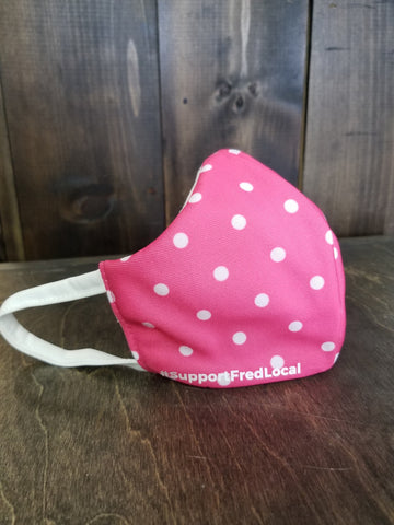 Polka Dots Pink PPE Civilian Mask #SupportFredLocal