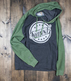 Hometown Shinny Hoodies Raglan