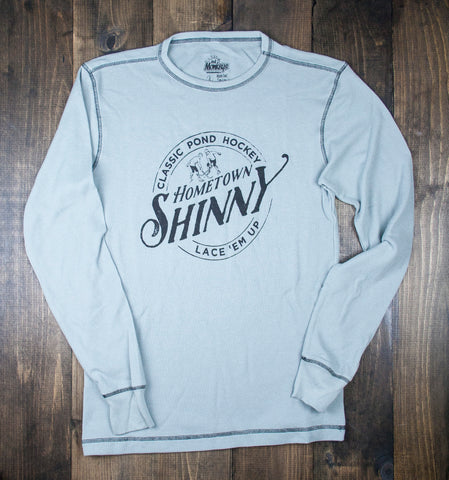 Hometown Shinny Lace Em Up Long Sleeve Waffle Knit