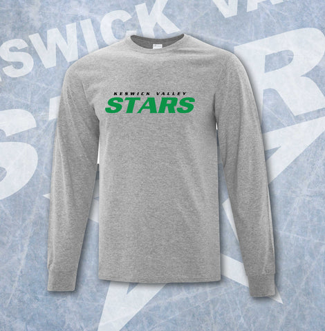 Keswick Valley Stars Grey Adult Long Sleeve