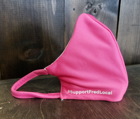 Bright Pink PPE Civilian Mask #SupportFredLocal