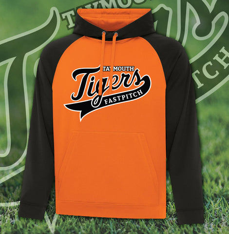 Taymouth Tigers Two Tone Hooded Sweatshirt - Adult