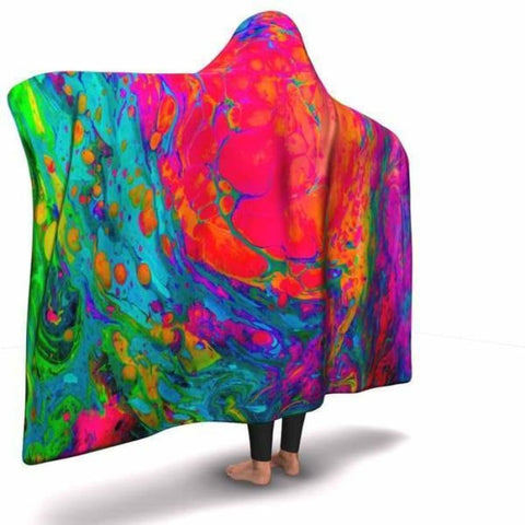 Acid Paint Hooded Blanket -2 - MK Online Store 101
