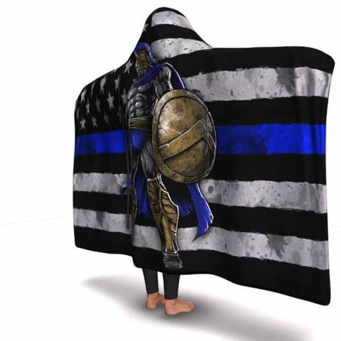 Blue Line Warrior Hooded Blanket - MK Online Store 101