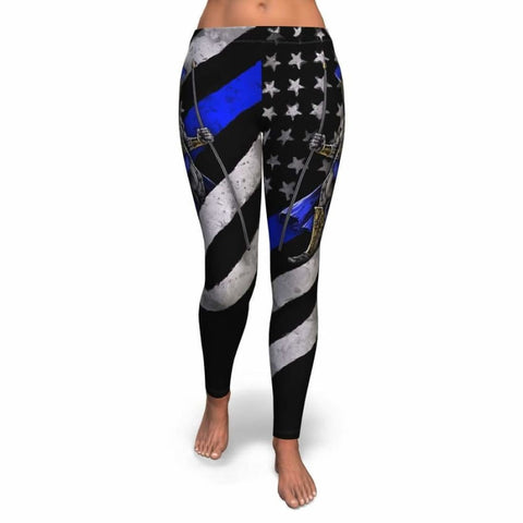 Blue Line Warrior Leggings - MK Online Store 101