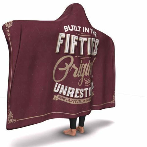 Built in the Fifties Hooded Blanket - MK Online Store 101
