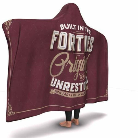 Built in the Forties Hooded Blanket - MK Online Store 101