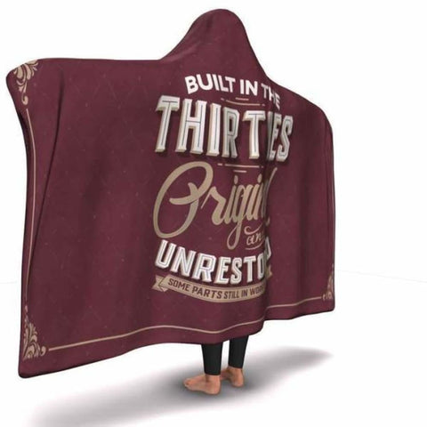 Built in the Thirties Hooded Blanket - MK Online Store 101