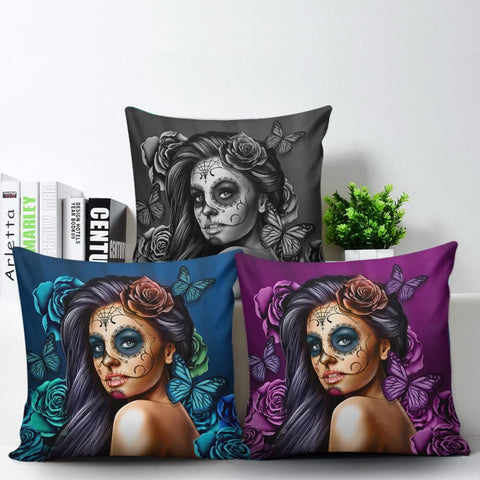 Calavera Pillow Cover Set - MK Online Store 101