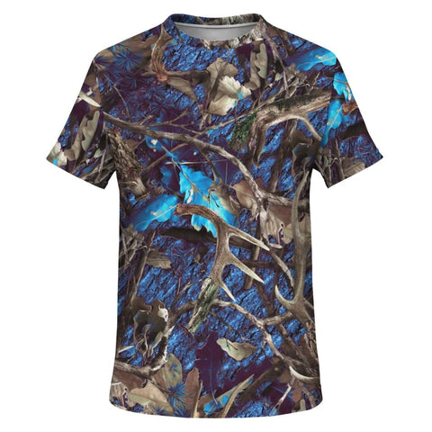 Camo Turquoise T-Shirt - MK Online Store 101