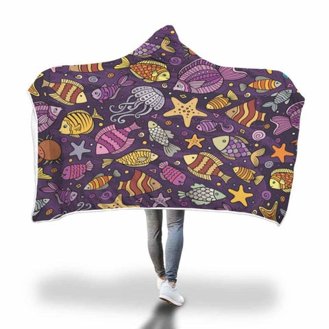 Cartoon Fishing Hooded Blanket -1 - MK Online Store 101