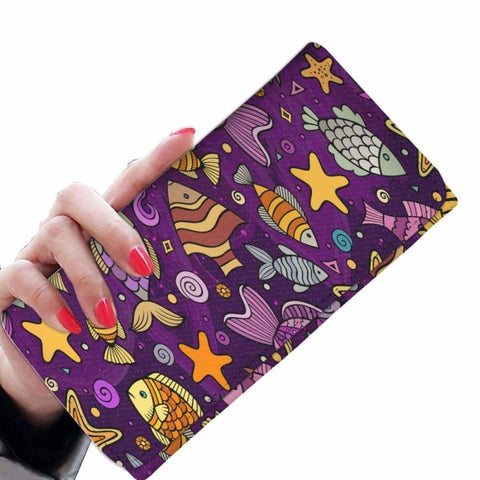 Cartoon Fishing Women Wallet Purse -1 - MK Online Store 101