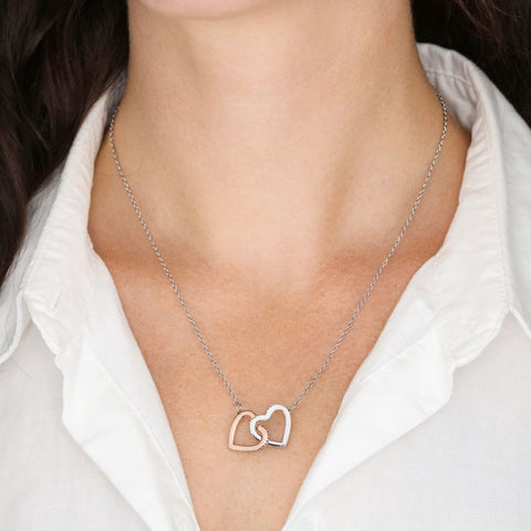 Dad To Daughter Cubic Zirconia Luxury Interlocking Heart Necklace ( Never ) - MK Online Store 101