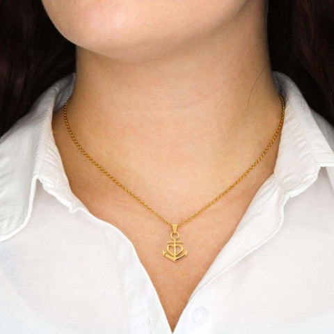 Friendship Luxury Anchor Necklace ( Anchor ) - MK Online Store 101