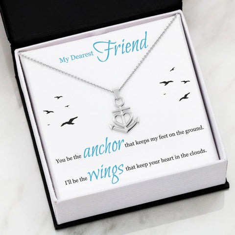 Friendship Luxury Anchor Necklace ( Seagulls ) - MK Online Store 101