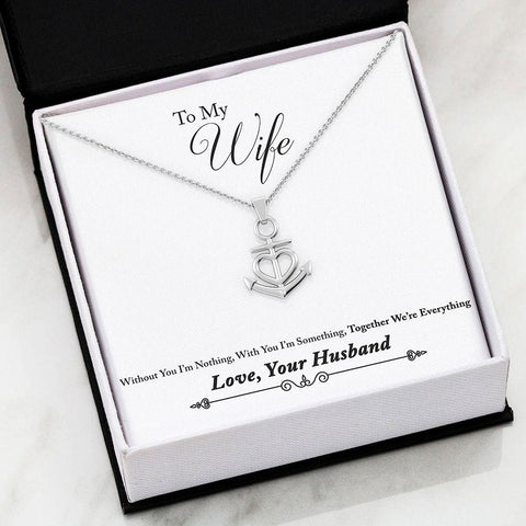 Husband To Wife Luxury Friendship Anchor Necklace ( Everything ) - MK Online Store 101