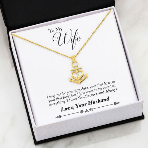 Husband To Wife Luxury Friendship Anchor Necklace ( First ) - MK Online Store 101