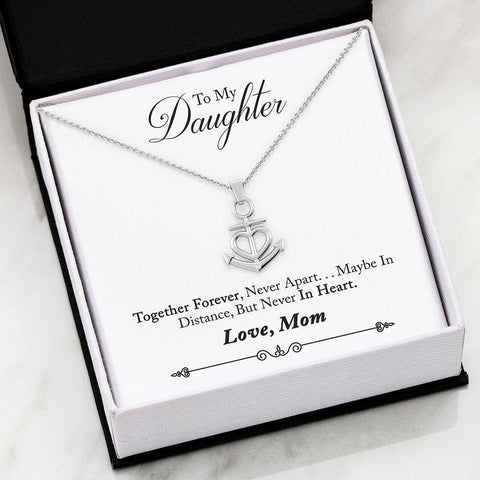 Mom To Daughter Luxury Friendship Anchor Necklace ( Forever ) - MK Online Store 101